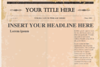4+ Free Newspaper Templates | Teknoswitch inside Newspaper Template For Powerpoint
