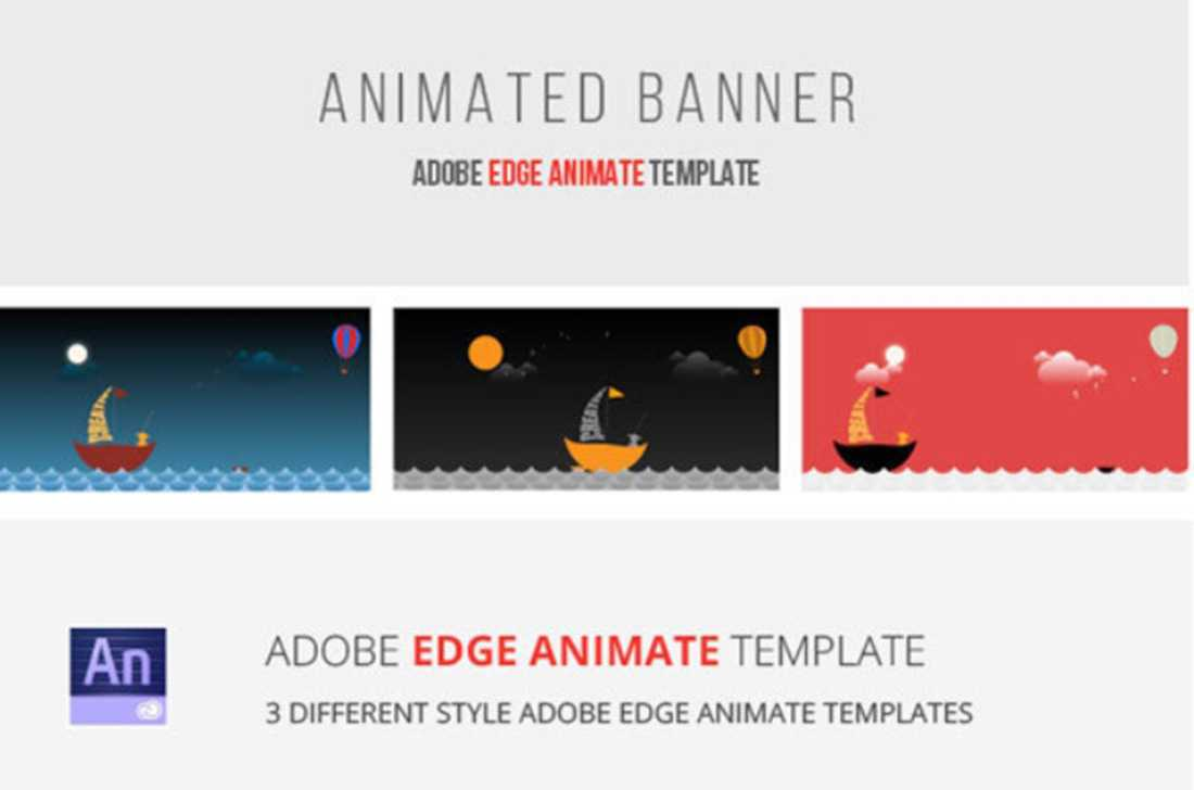 40 Awesome Edge Animate Templates Pertaining To Animated Banner Templates