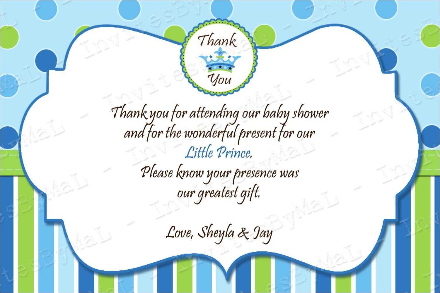 40 Beautiful Baby Shower Thank You Cards Ideas | Baby | Baby With Thank You Card Template For Baby Shower