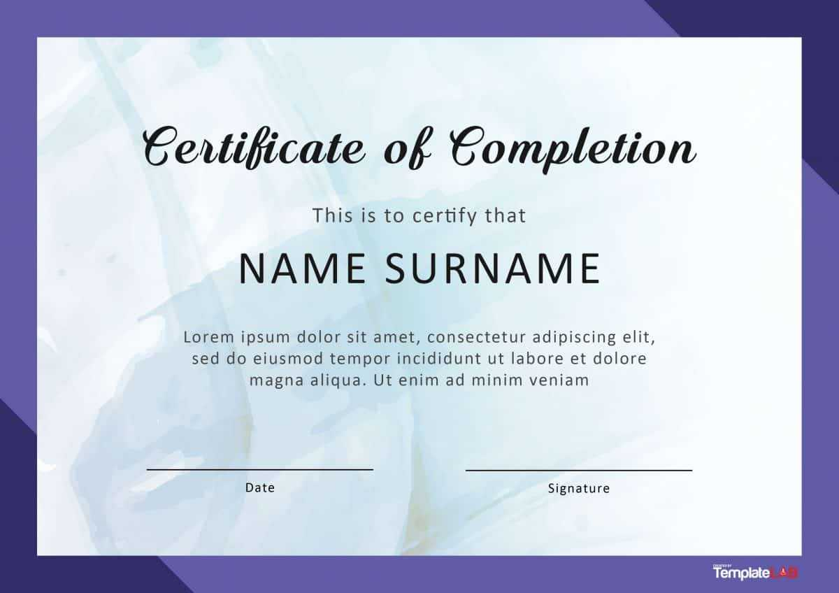 40 Fantastic Certificate Of Completion Templates [Word for Free Completion Certificate Templates For Word