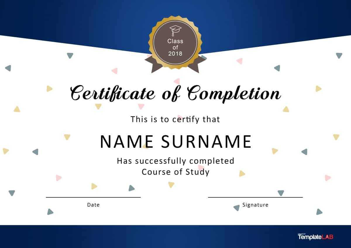 40 Fantastic Certificate Of Completion Templates [Word Intended For Certificate Templates For Word Free Downloads
