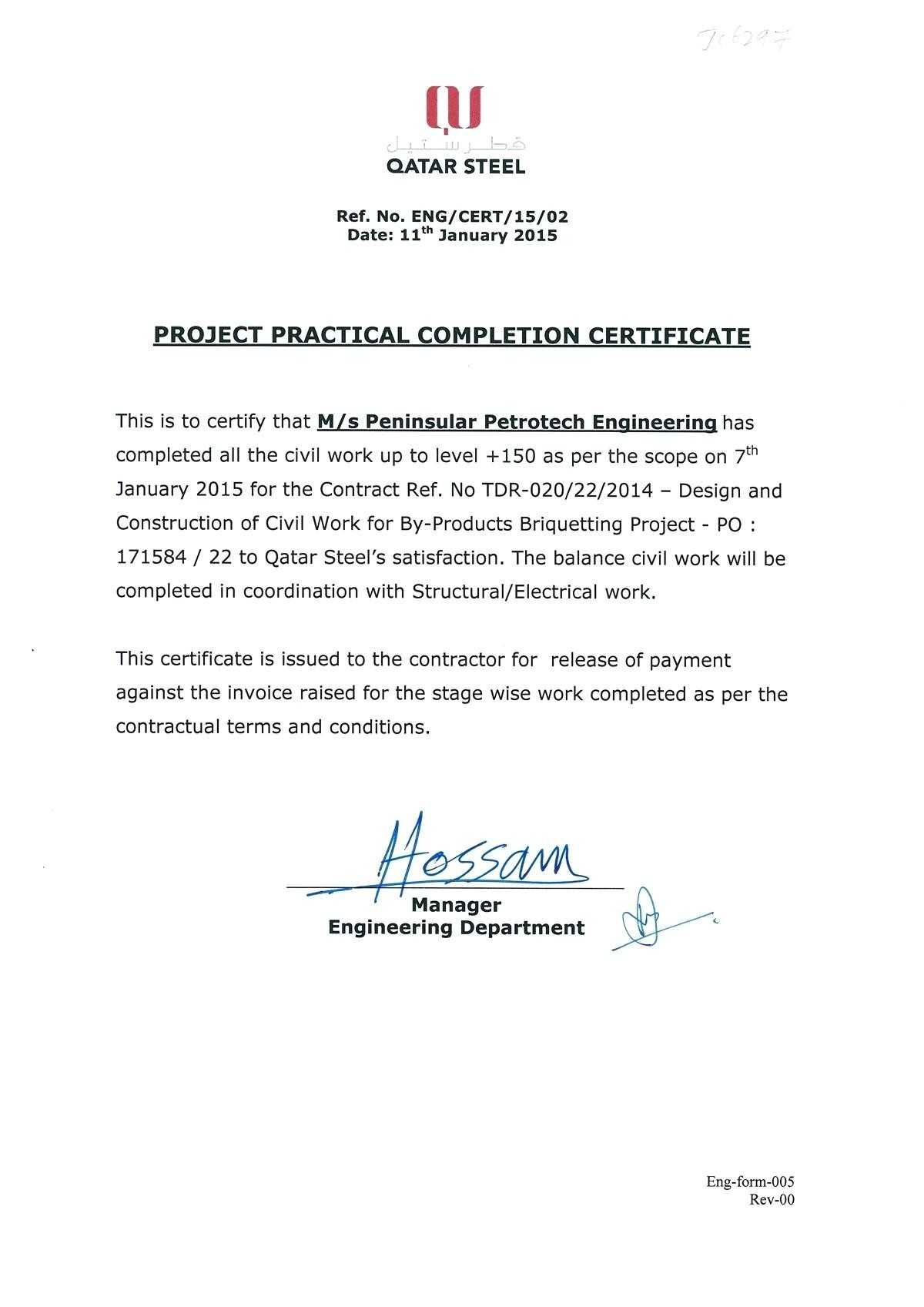 40 Free Certificate Of Conformance Templates Forms 5125 Intended For Practical Completion Certificate Template Uk