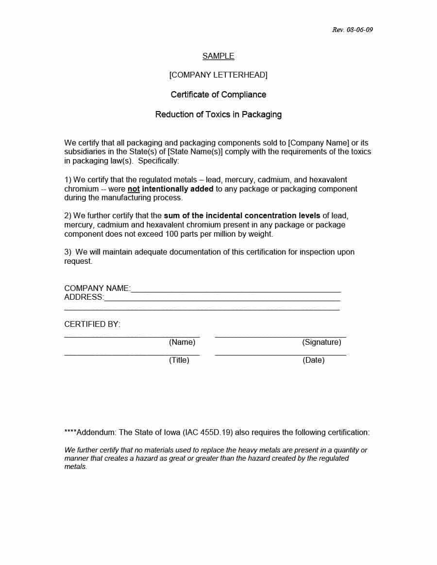 40 Free Certificate Of Conformance Templates & Forms ᐅ regarding Certificate Of Conformity Template Free