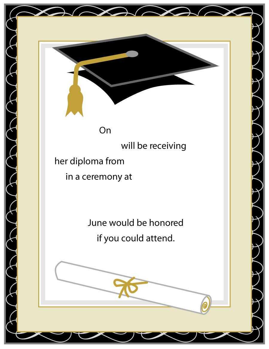 40+ Free Graduation Invitation Templates ᐅ Template Lab With Regard To Graduation Invitation Templates Microsoft Word