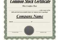 40+ Free Stock Certificate Templates (Word, Pdf) ᐅ Template Lab intended for Share Certificate Template Pdf