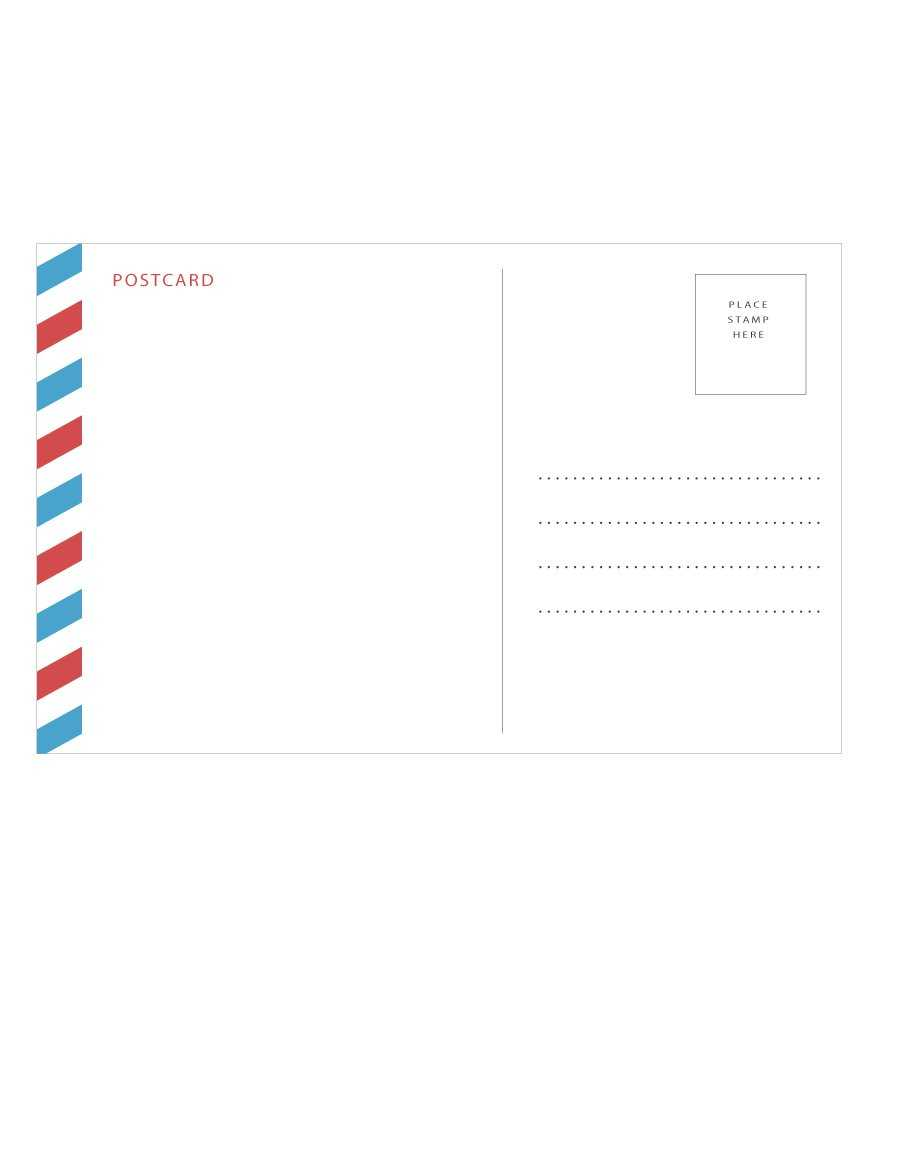 40+ Great Postcard Templates & Designs [Word + Pdf] ᐅ Within Post Cards Template