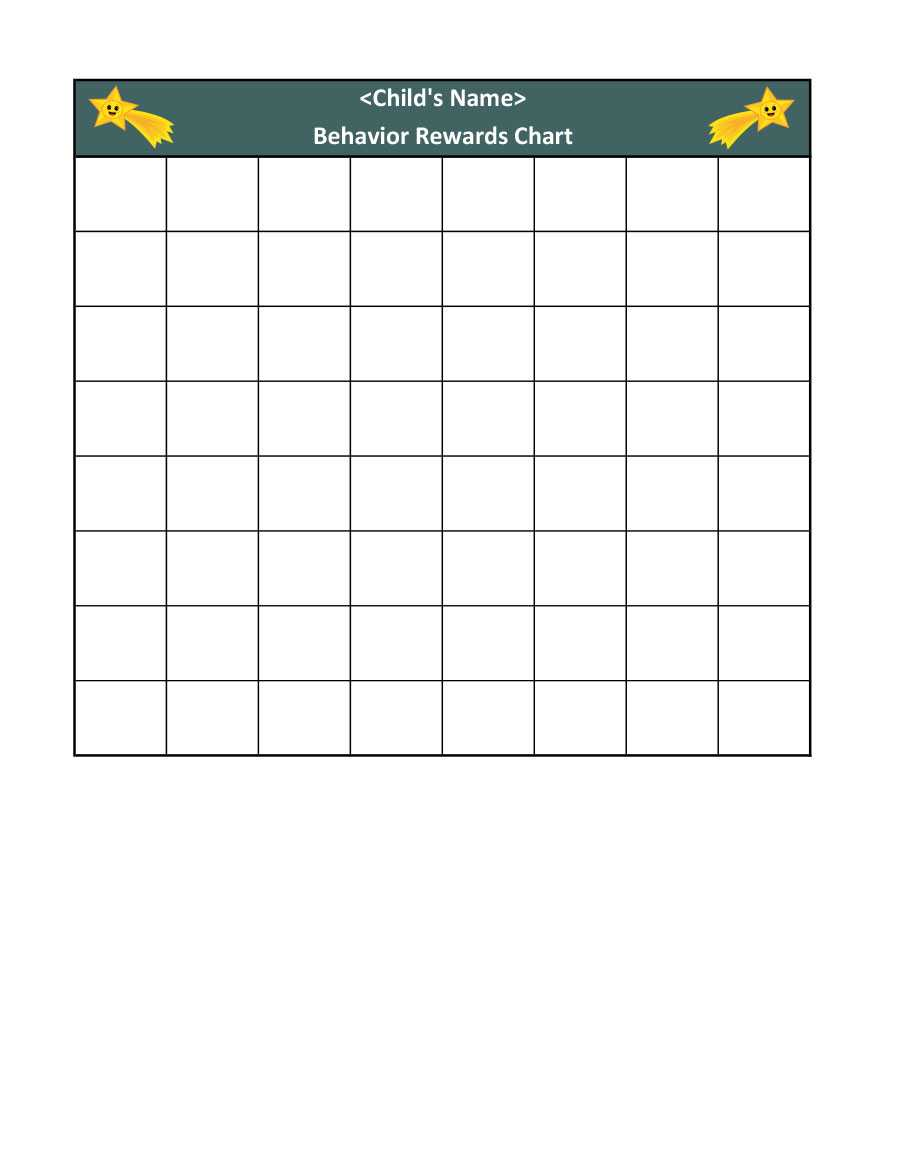 40 Printable Reward Charts For Kids (Pdf, Excel & Word) within Blank Reward Chart Template