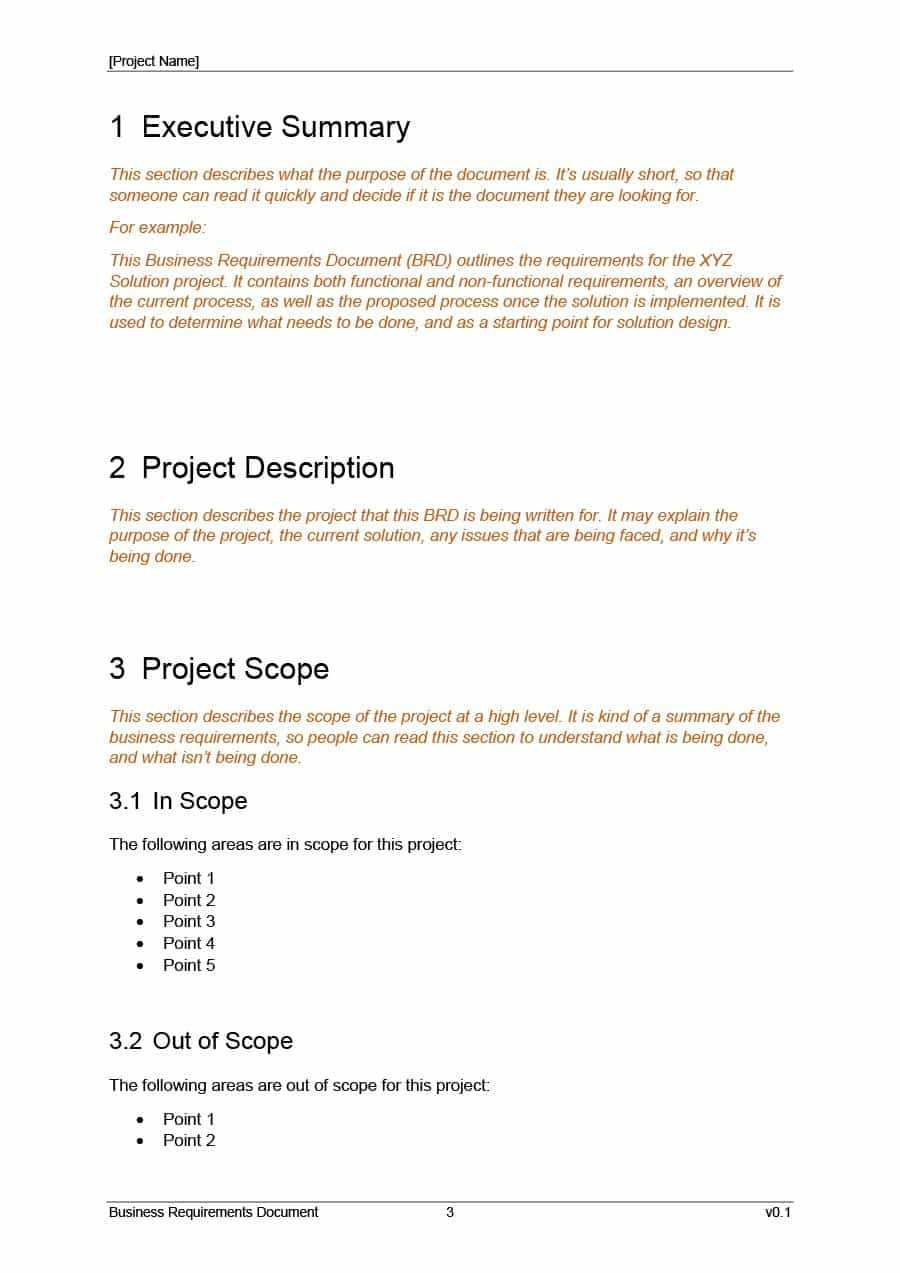 40+ Simple Business Requirements Document Templates ᐅ intended for Cognos Report Design Document Template