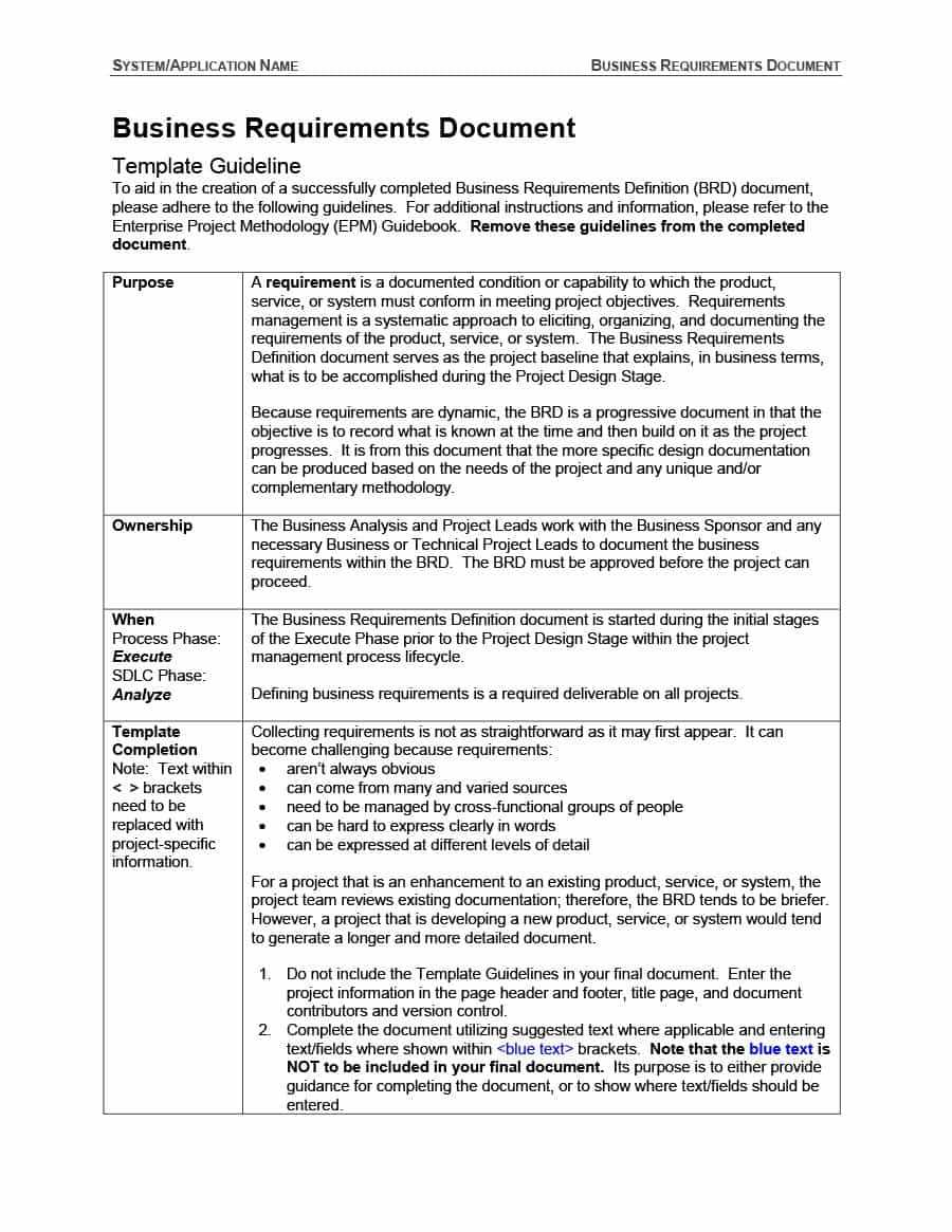 40+ Simple Business Requirements Document Templates ᐅ With Regard To Product Requirements Document Template Word