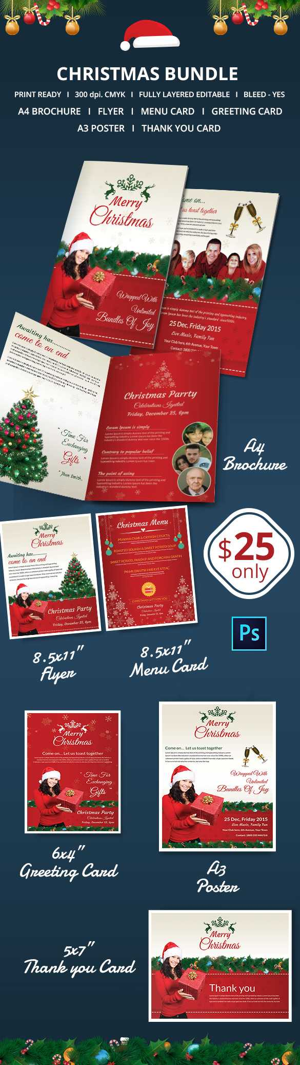 41+ Christmas Brochures Templates - Psd, Word, Publisher Intended For Christmas Brochure Templates Free