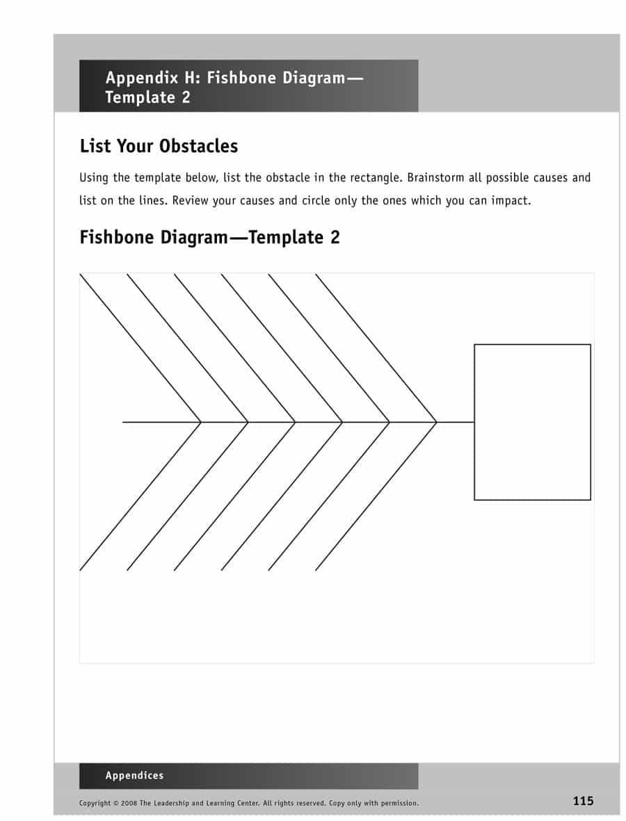 43 Great Fishbone Diagram Templates & Examples [Word, Excel] Within Ishikawa Diagram Template Word