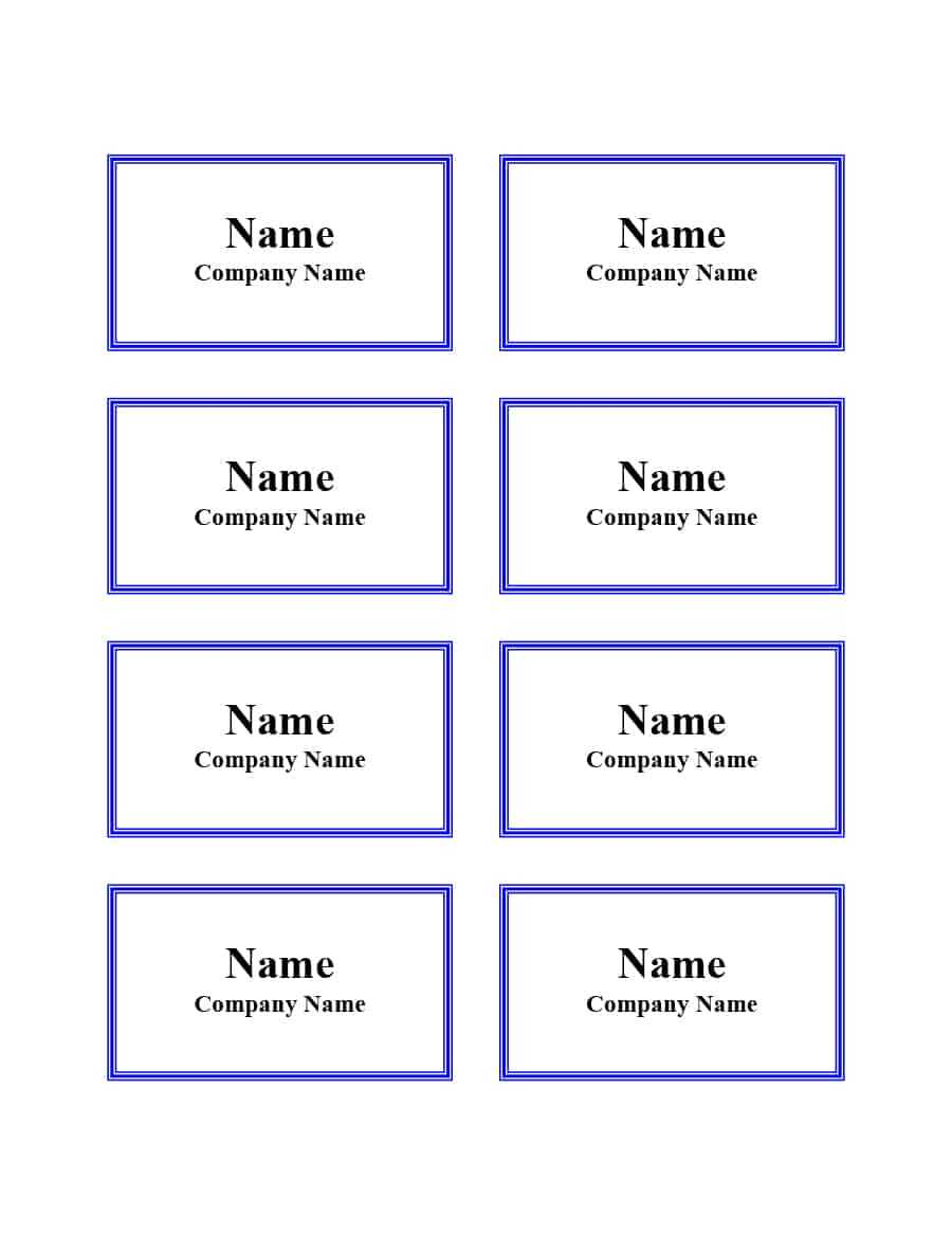 47 Free Name Tag + Badge Templates ᐅ Template Lab For Visitor Badge Template Word