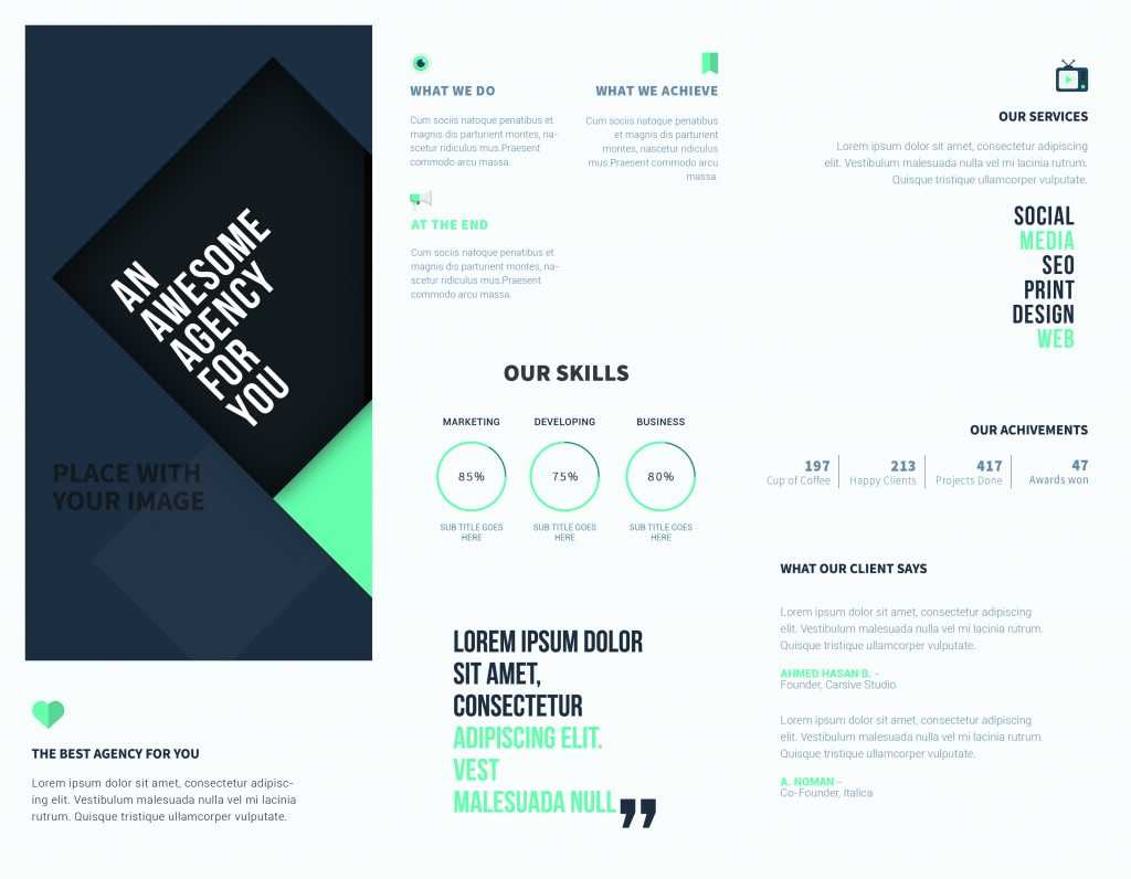 5 Free Online Brochure Templates To Create Your Own Brochure   With Regard To Online Brochure Template Free