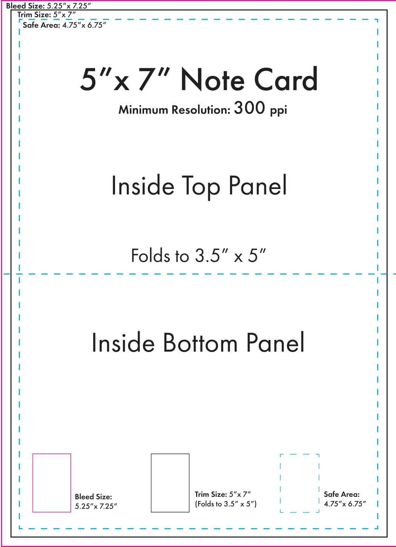 """5"""" X 7"""" Note Card Template - U.s. Press regarding 3 X 5 Index Card Template"""