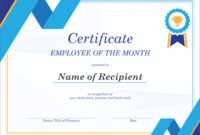 50 Creative Blank Certificate Templates In Psd Photoshop Inside Manager Of The Month Certificate Template