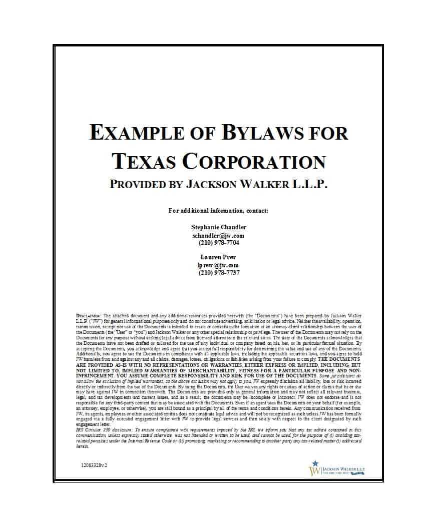 50 Simple Corporate Bylaws Templates & Samples ᐅ Template Lab with regard to Corporate Bylaws Template Word