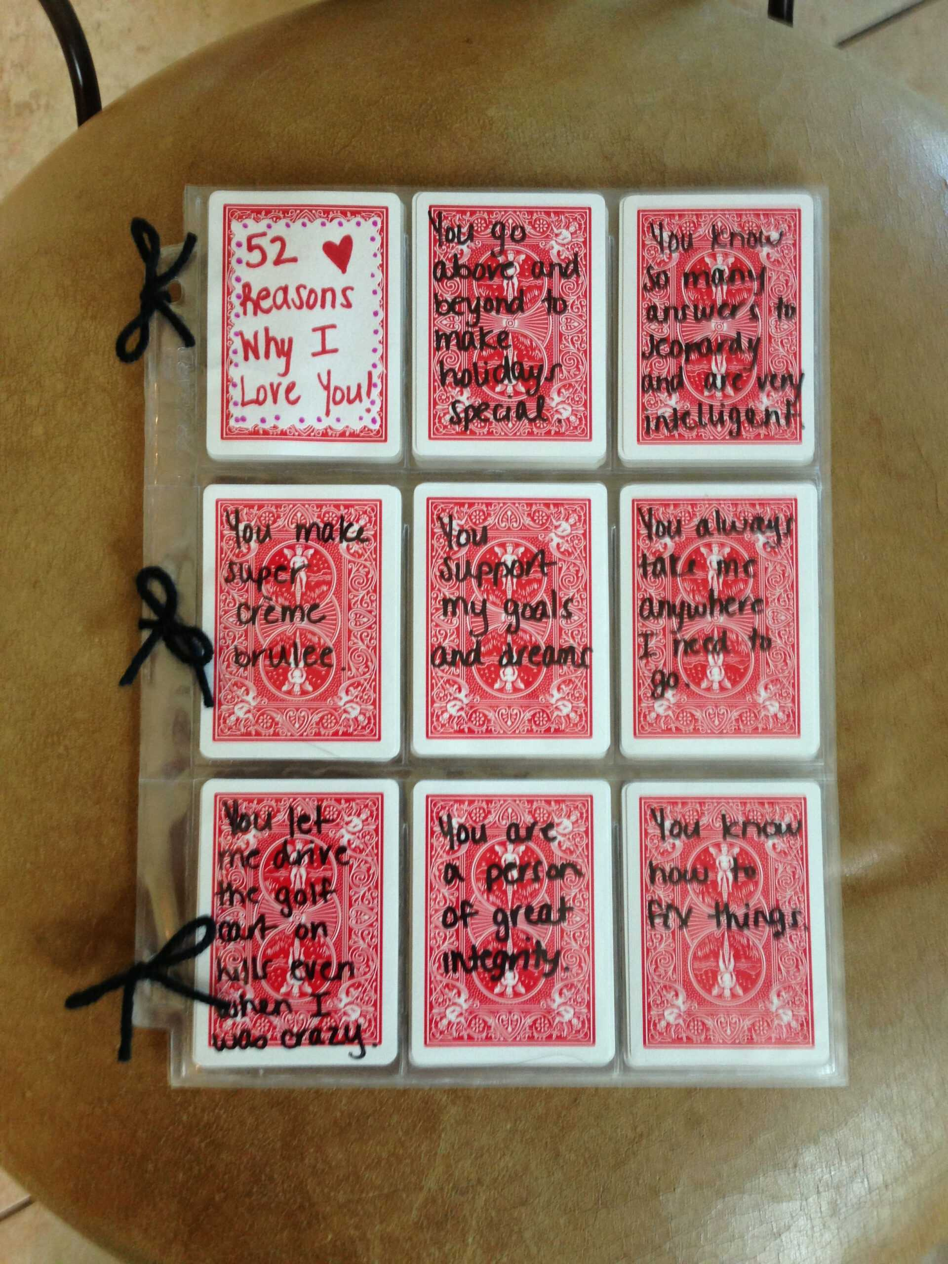 52 Reasons I Love You Write Reasons With Sharpie On Cards In 52 Reasons Why I Love You Cards Templates Free