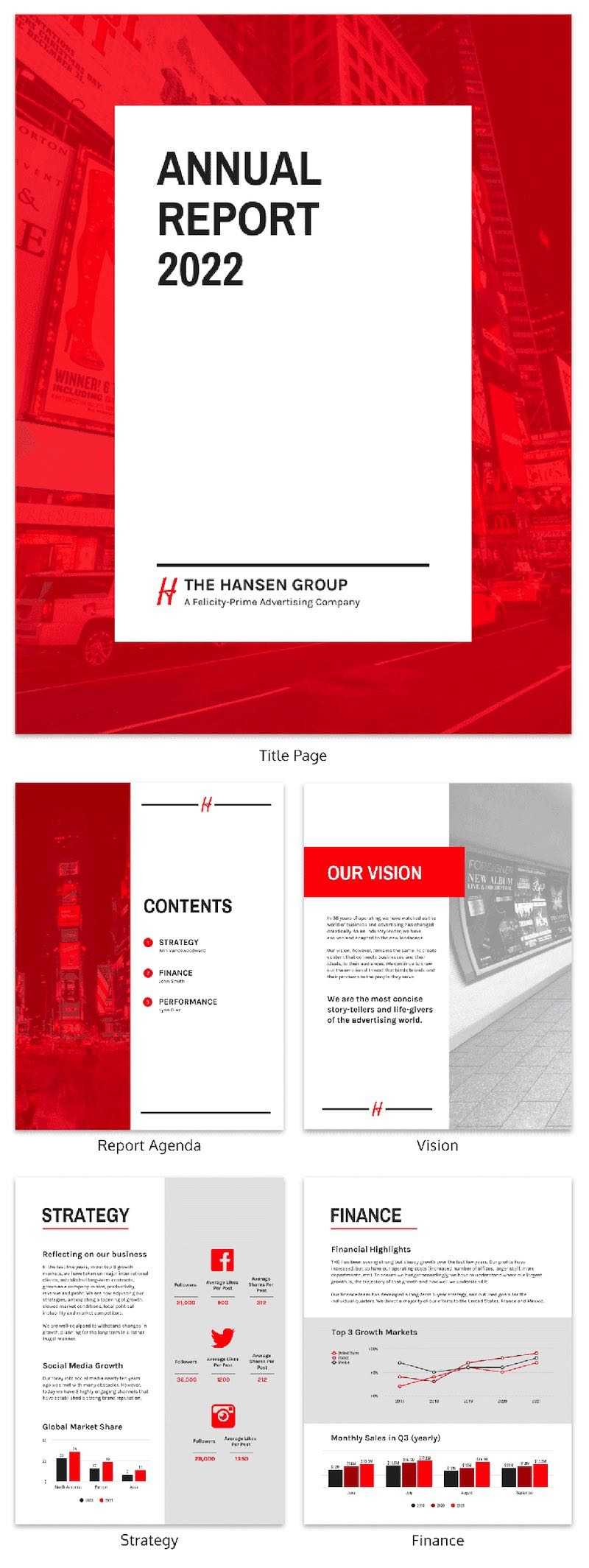 55+ Customizable Annual Report Design Templates, Examples & Tips within Annual Report Template Word Free Download