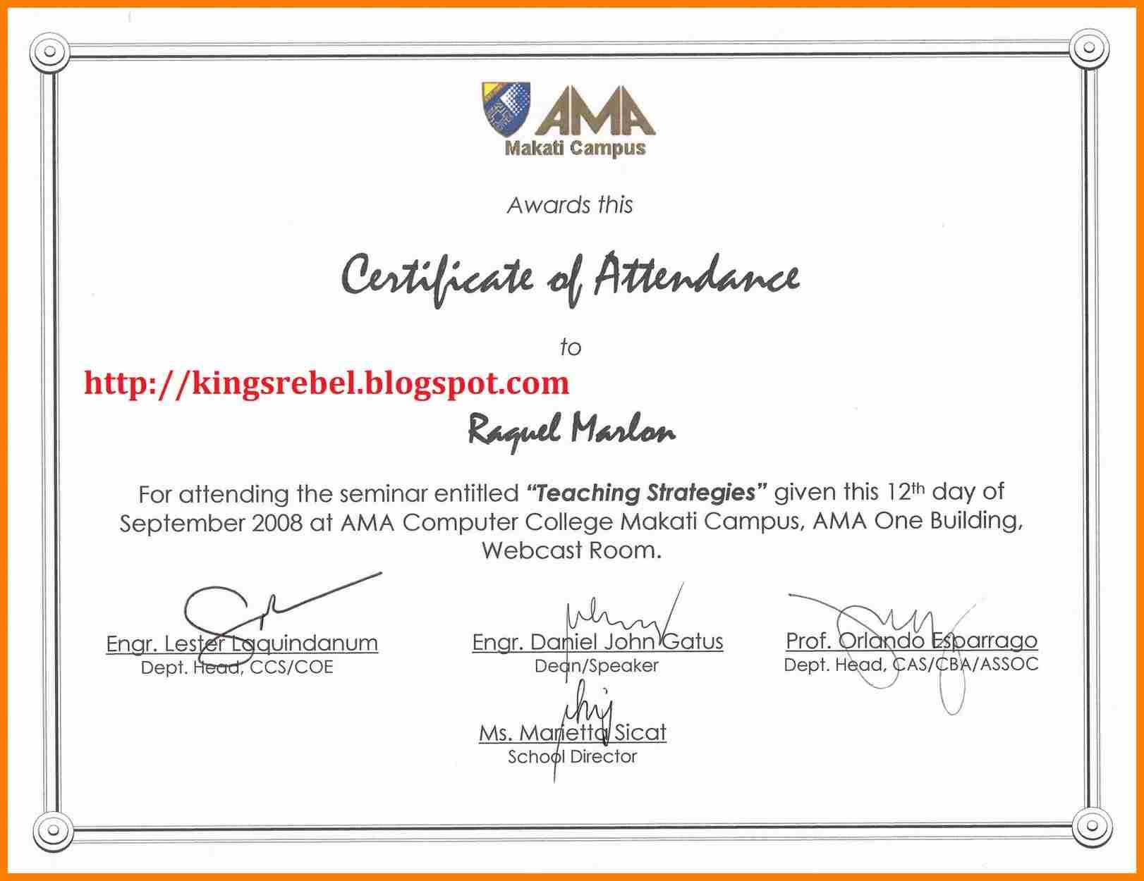 6+ Certificate Of Appearance Template | Weekly Template Within Certificate Of Appearance Template