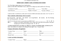 6+ Hotel Credit Card Authorization Form   Authorization pertaining to Hotel Credit Card Authorization Form Template