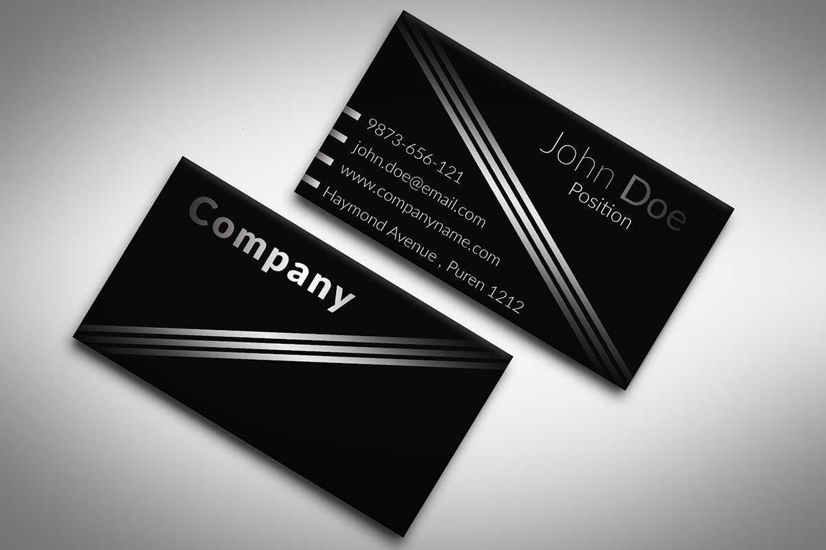 60+ Only The Best Free Business Cards 2015 | Free Psd Templates Pertaining To Black And White Business Cards Templates Free