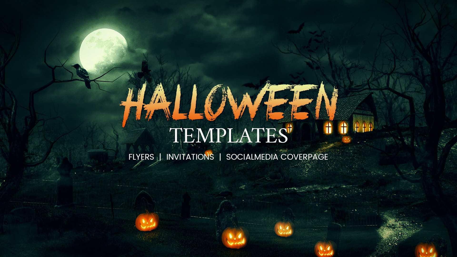68+ Halloween Templates - Editable Psd, Ai, Eps Format in Free Halloween Templates For Word