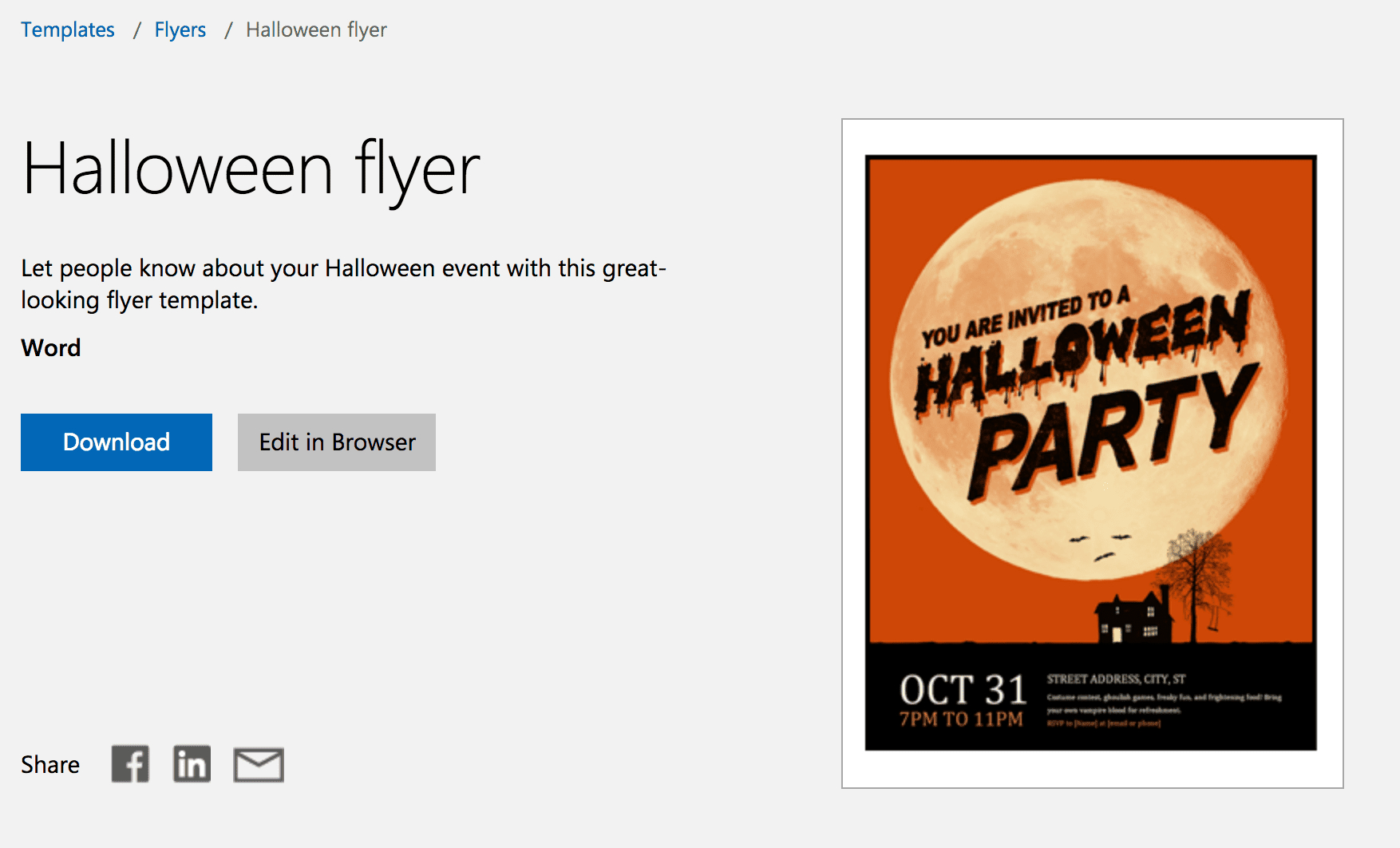 7 Free Halloween-Themed Templates For Microsoft Word for Free Halloween Templates For Word