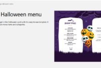 7 Free Halloween-Themed Templates For Microsoft Word in Free Halloween Templates For Word