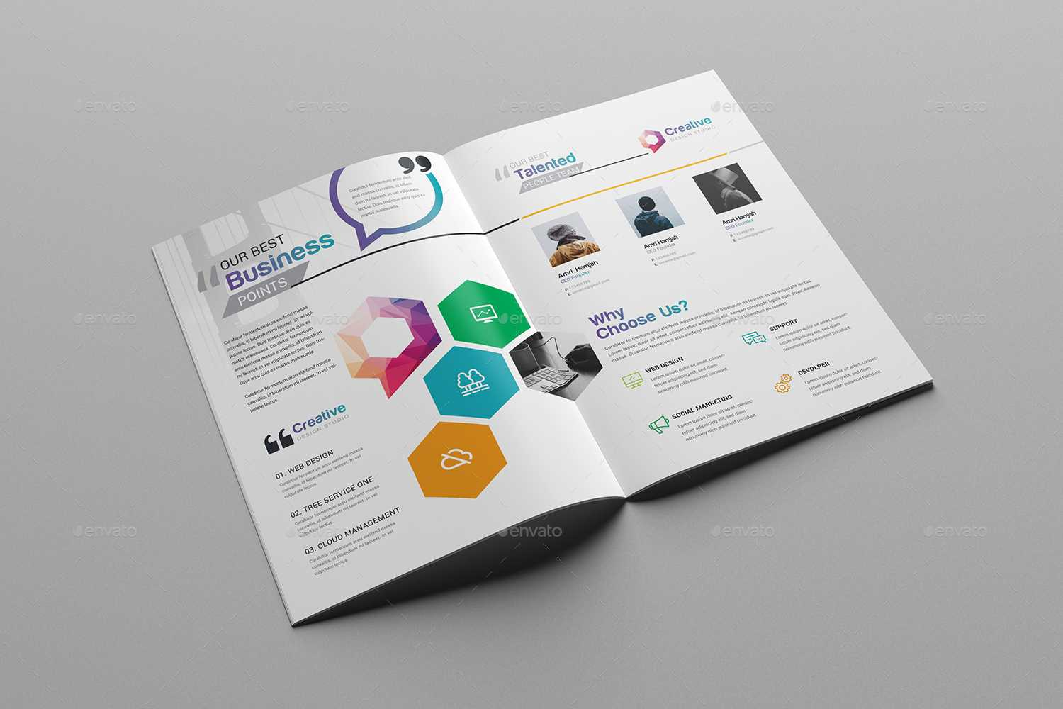 76+ Premium & Free Business Brochure Templates Psd To within Two Fold Brochure Template Psd