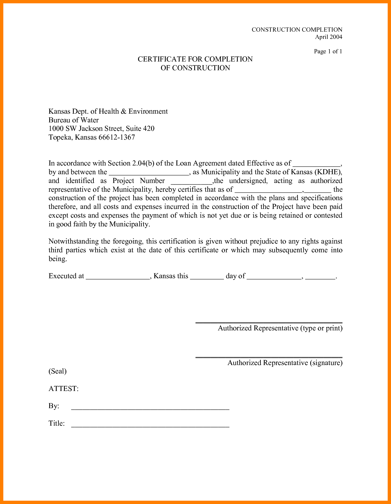 9 Best Images Of Certificate Of Completion Form Sample with Certificate Of Completion Construction Templates