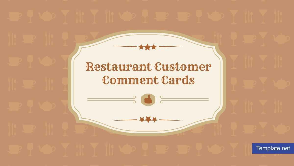 9+ Restaurant Customer Comment Card Templates & Designs with Restaurant Comment Card Template