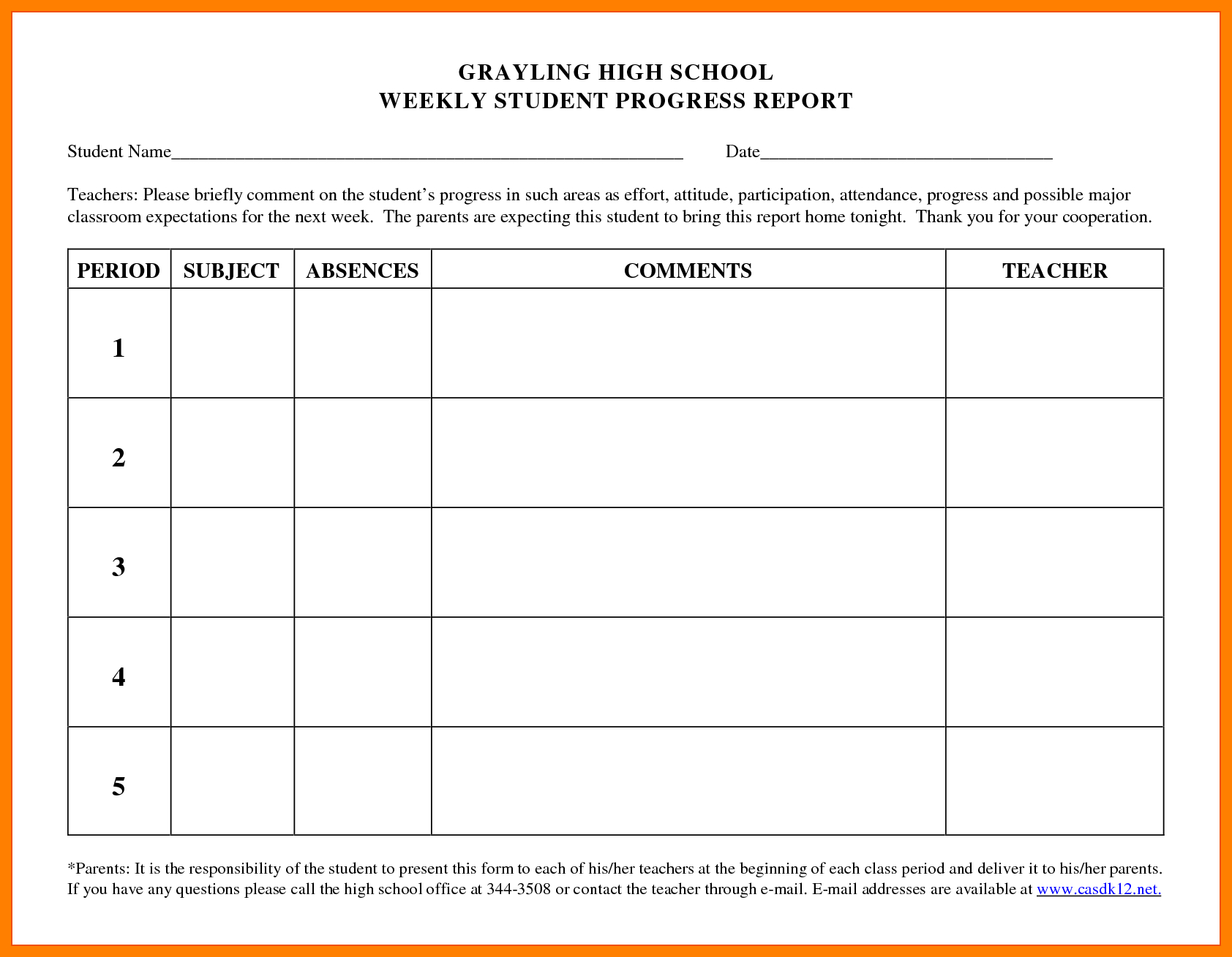 9+ Students Progress Report Sample | Phoenix Officeaz inside Educational Progress Report Template