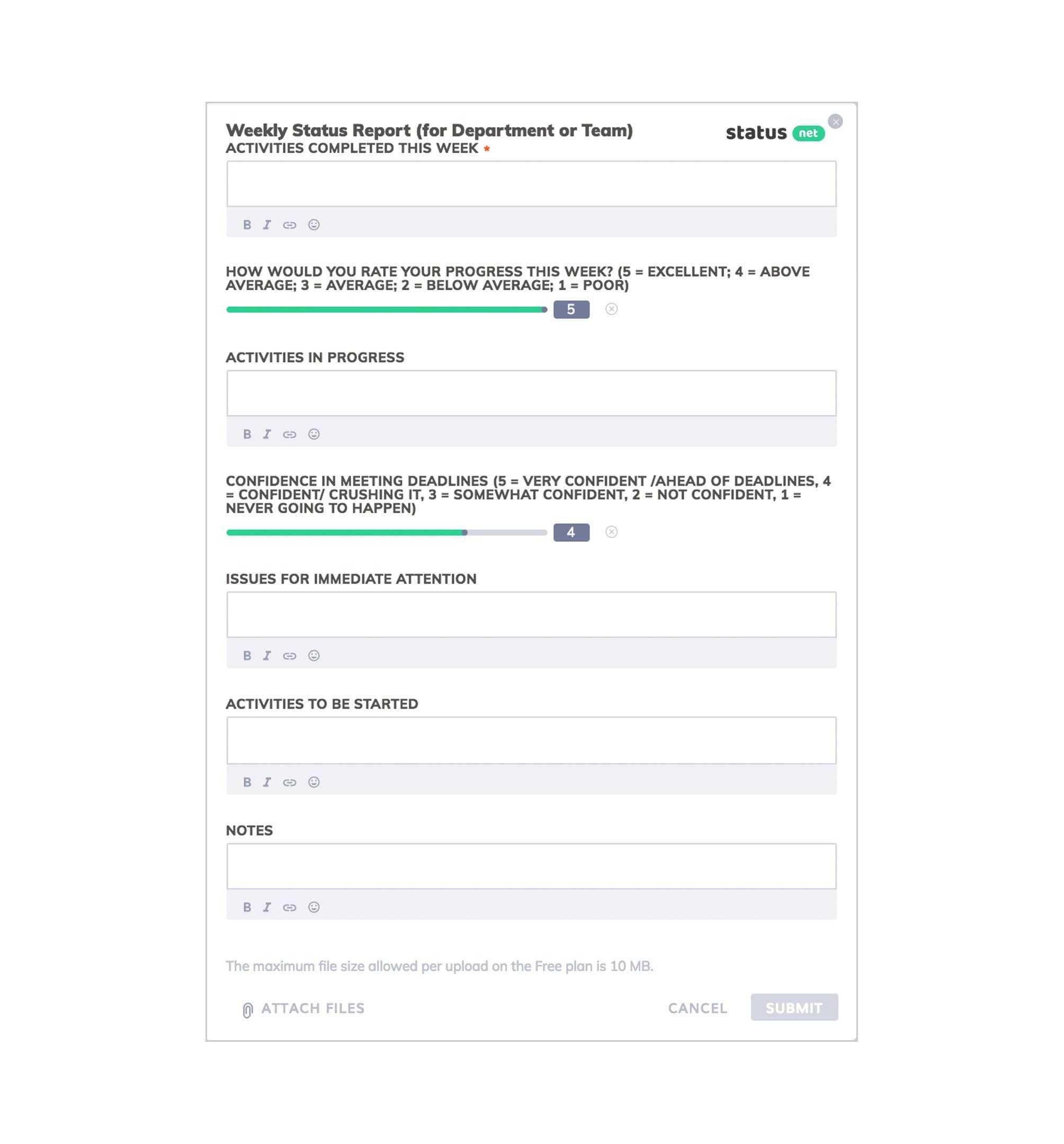 A Great Business Development Status Report Template   Free within Development Status Report Template