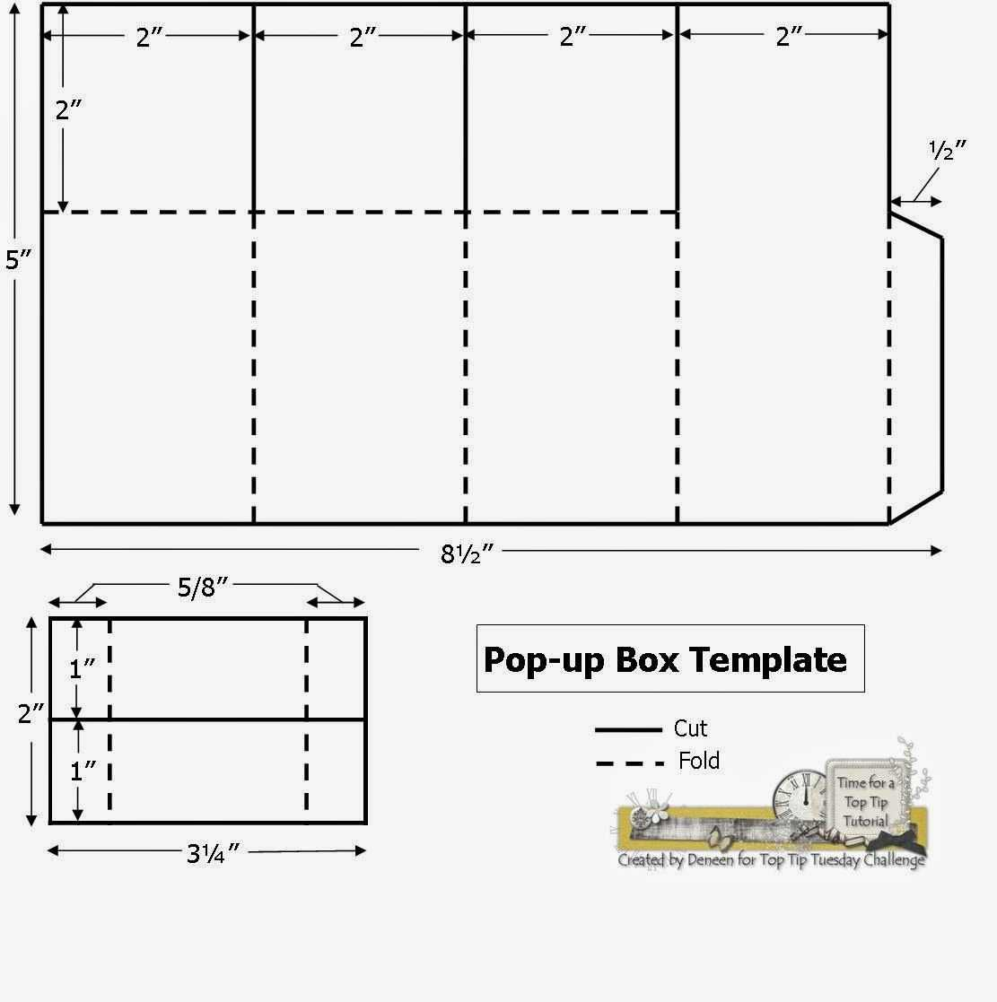 A Path Of Paper: Top Tip Tuesday Numbers Challenge And Pop With Regard To Fold Out Card Template