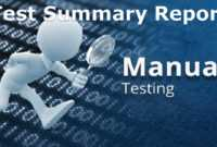 A Sample Test Summary Report – Software Testing with regard to Test Exit Report Template