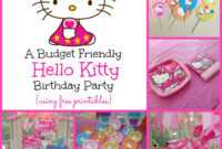 A Super Sweet Hello Kitty Birthday Party Using Free Printables intended for Hello Kitty Birthday Banner Template Free
