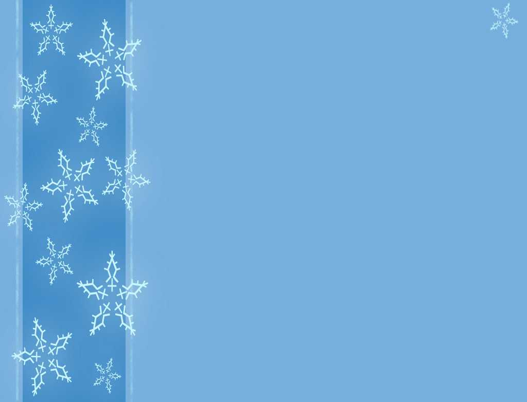 A Winter With Snowflakes Backgrounds For Powerpoint in Snow Powerpoint Template