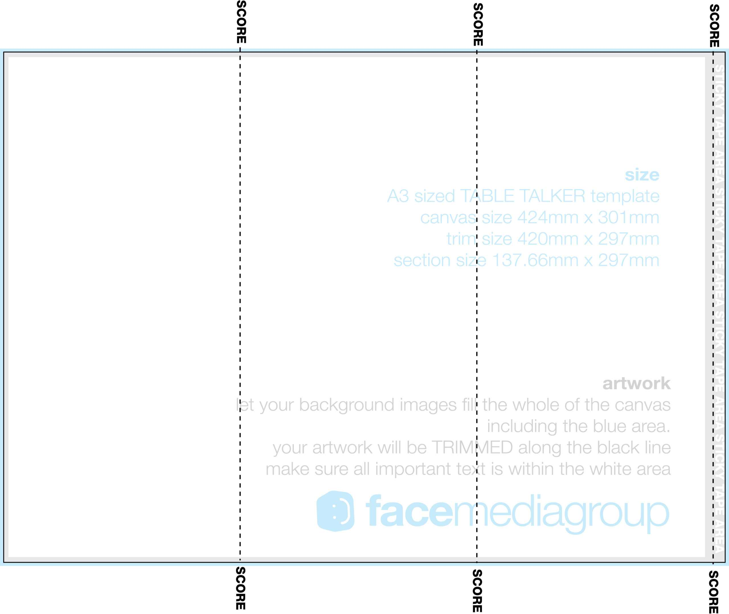 A3 Tri Fold Table Talker Template | Photo Page - Everystockphoto With Regard To Tri Fold Tent Card Template