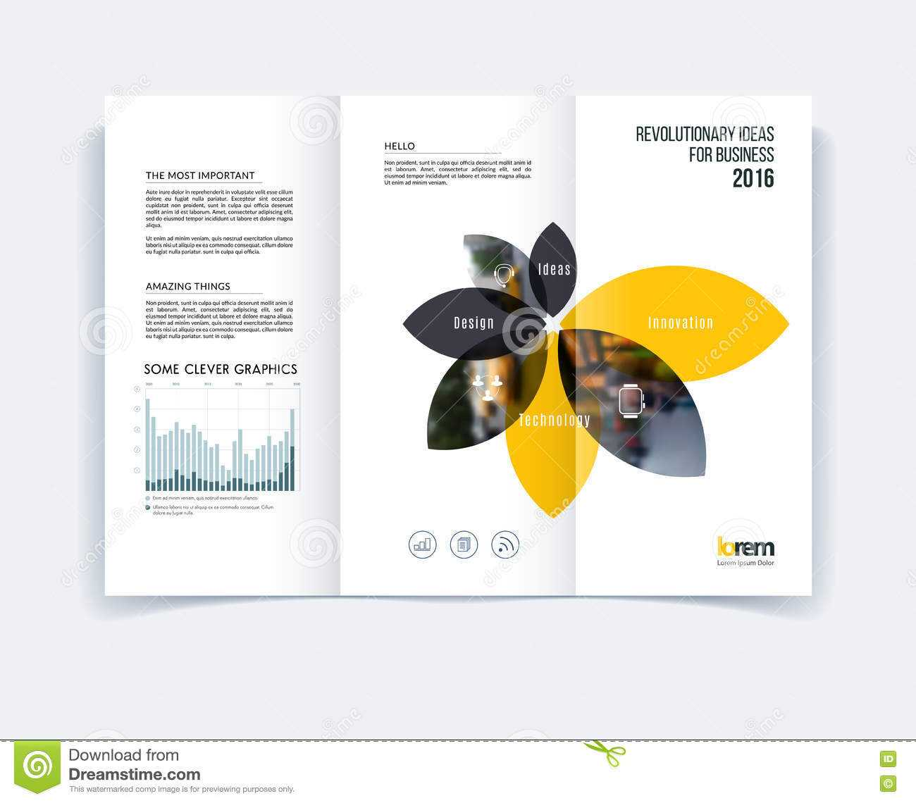 A4 Tri Fold Brochure Template Psd Free Download Templates In With Regard To Engineering Brochure Templates