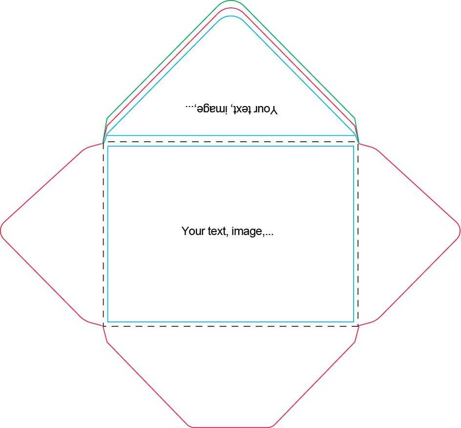 A7 Envelope Template | Card Making Tutorials, Handmade For Envelope Templates For Card Making