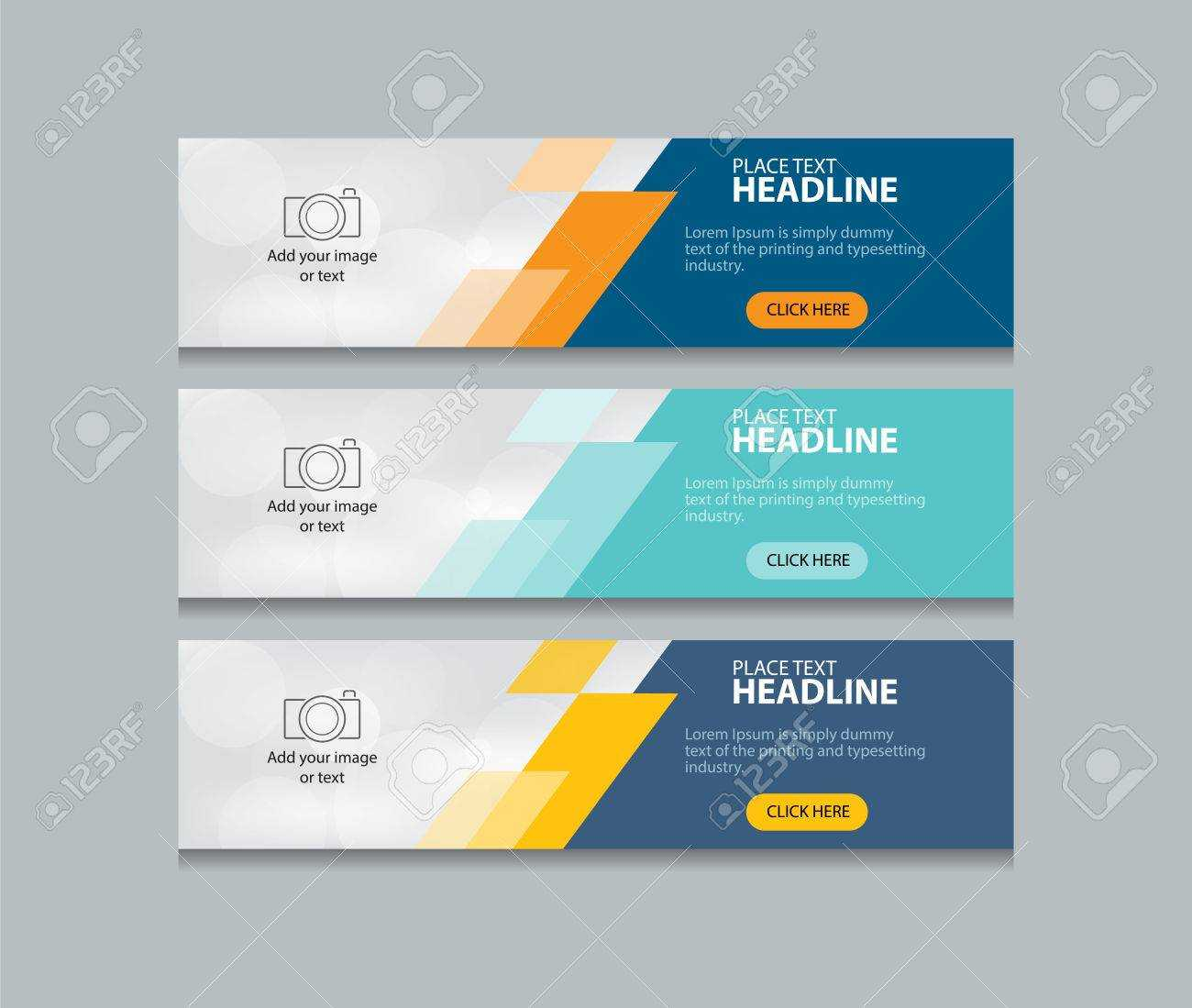 Abstract Web Banner Design Template Background Intended For Website Banner Design Templates
