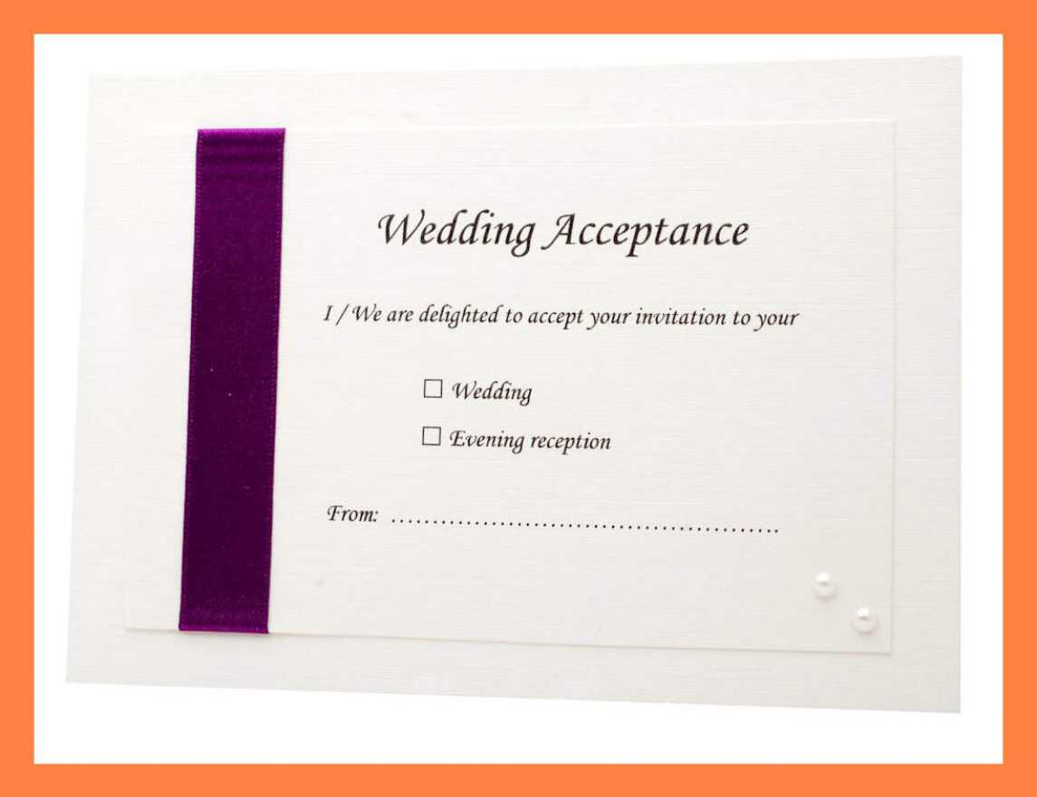 Acceptance Card Template Full Wedding 20 Acceptance 20 Card Regarding Acceptance Card Template