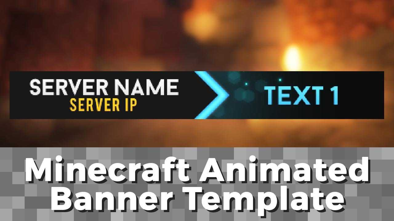 "Advanced .gif Minecraft Animated Banner Template – ""elegant Dazzle"" Inside Animated Banner Templates"