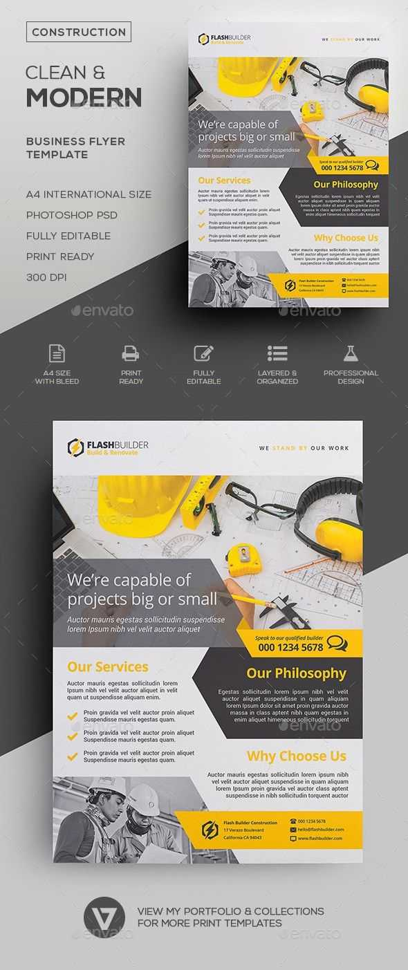 Advertisement, Architecture, Builder, Building, Business for Engineering Brochure Templates