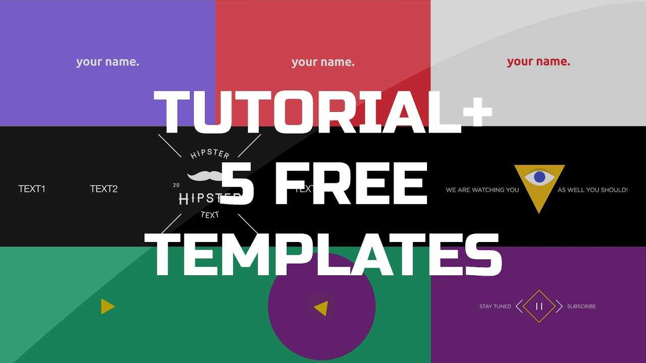 After Effects Tutorial – .gif Animated Banner & 5 Free Templates Intended For Animated Banner Templates