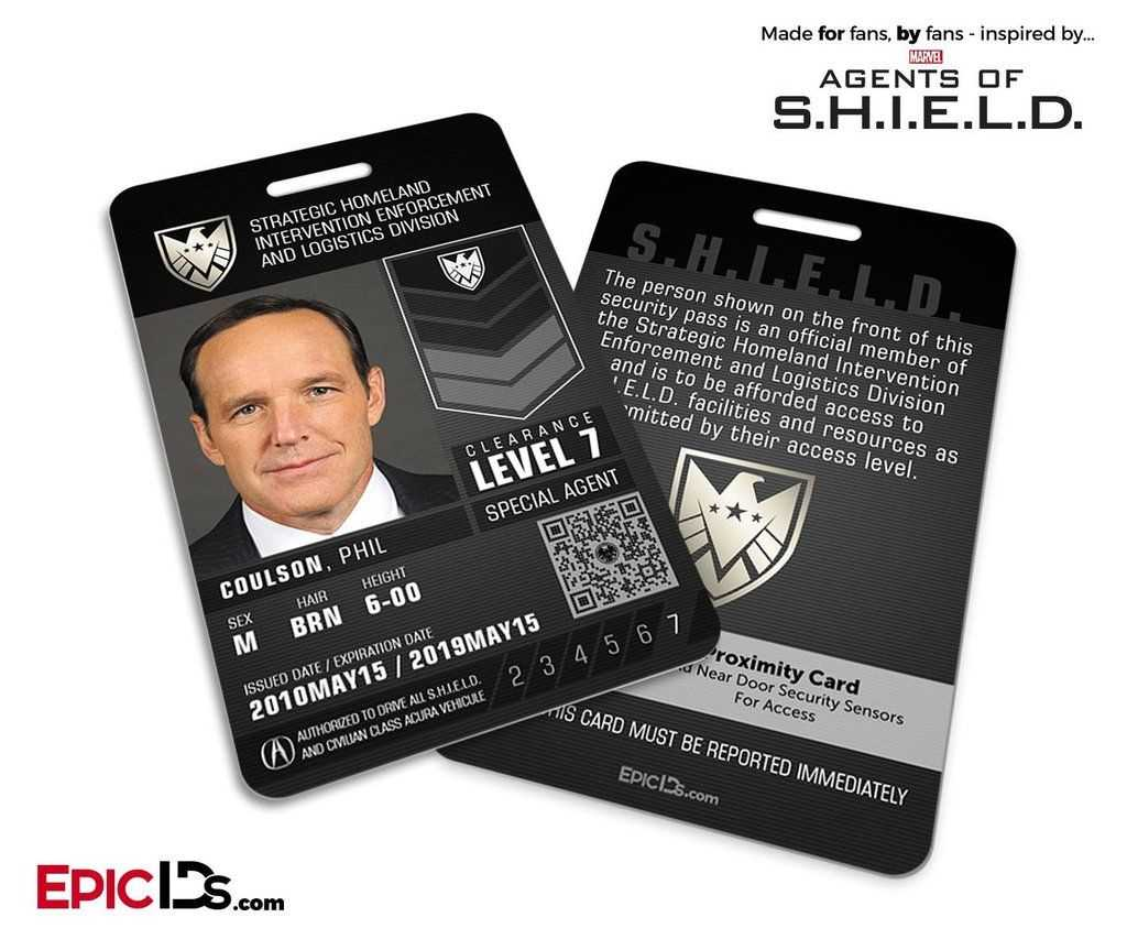 Agents Of Shield Inspired 'real' Shield Agent Id – Phil Regarding Shield Id Card Template