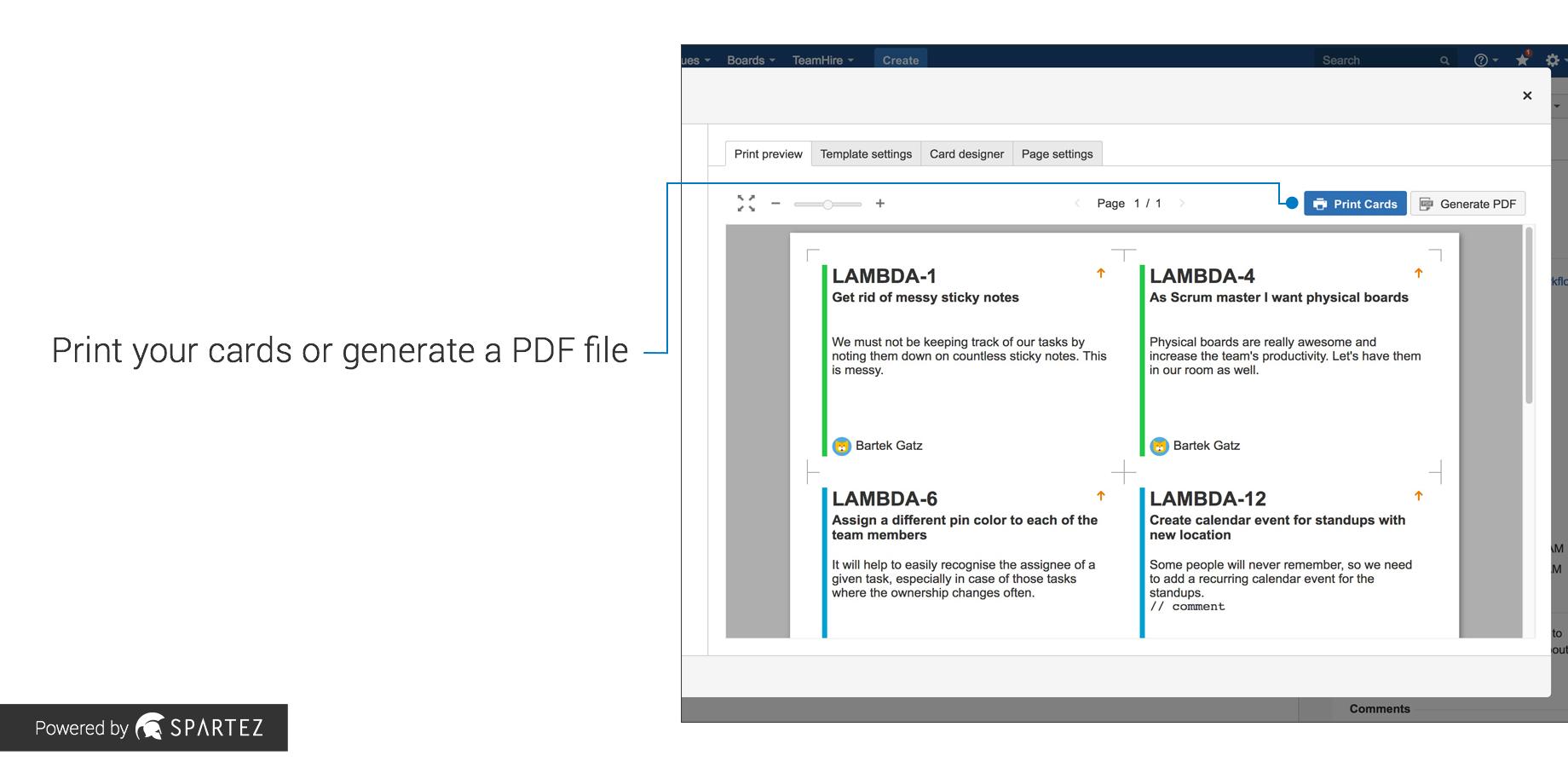 Agile Cards - Print Issues From Jira | Atlassian Marketplace regarding Agile Story Card Template