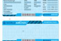 Airline Ticket Template – Teplates For Every Day for Plane Ticket Template Word