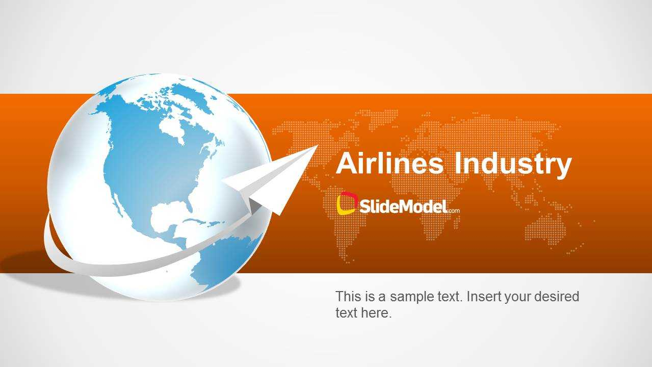 Airlines Industry Powerpoint Template Inside Powerpoint Templates Tourism