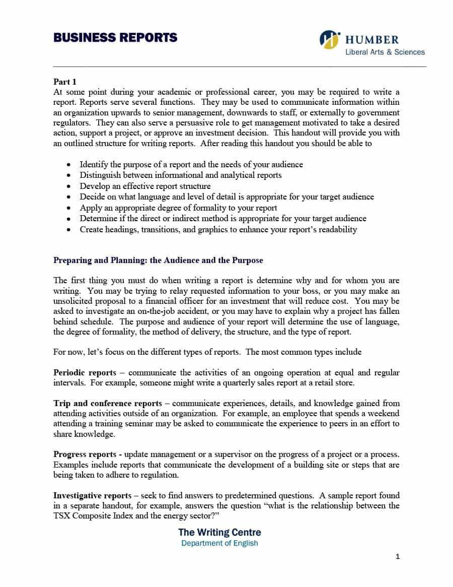 Analytical Report Template - Cumed inside Training Report Template Format